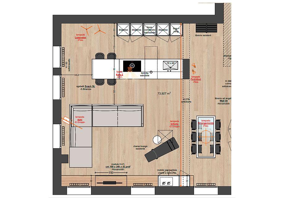 reforma de un apartamento en mantua por ghiroldi design (17) - plano