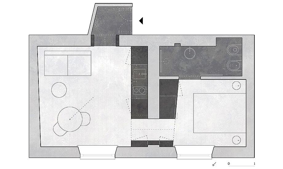 apartamento en naviglio de atelier architettura chinello morandi (16) - plano