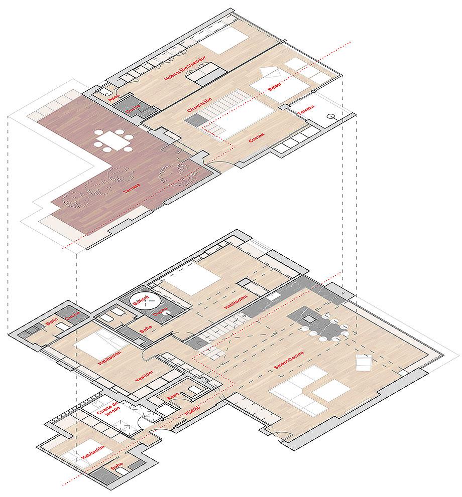 dúplex en madrid de zooco estudio (30) - plano