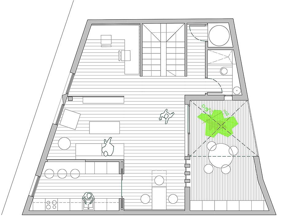 house a de xstudio arquitectos (24) - plano