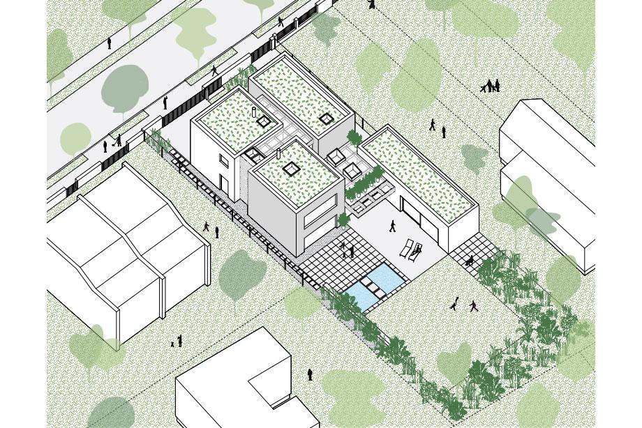casa lhotka en praga de soa architekti y richter design (19) - axonometria